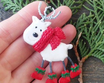 Reindeer Pin Christmas brooch Rudolph Santas deer Cute gift Christmas jewelry Christmas Kawaii Brooch
