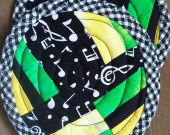Music-themed Mug rugs (set of 2)
