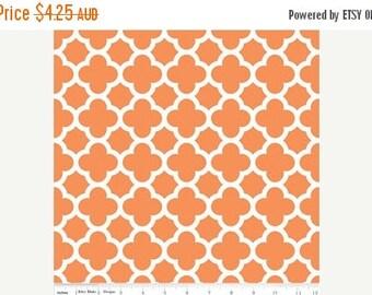 40% OFF SALE Riley Blake Fabric - 1 Fat Quarter Quatrefoil in Orange