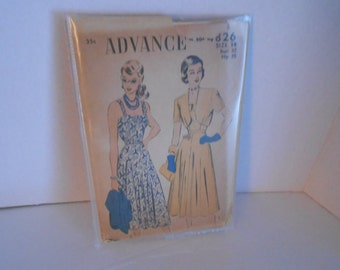 ADVANCE 4826 strap sun dress with jacket size 14