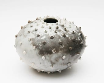 Spiked Ceramic Pot - Sawdust Fired Vessel