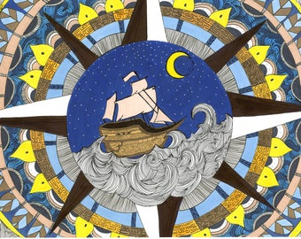 Sailboat Mandala