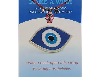 Valentine Day gift Unique Gift Charmed Greeting card with attached envelope Evil eye greeting card Hamsa Greeting card
