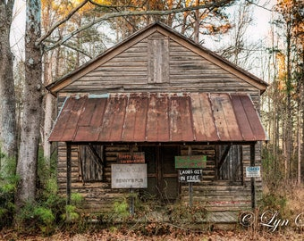 Benny's Pub, Home Decor, old bar, Nature, Landscape, Photography, fine art, fine art print, wall art, old house, Nash county, North Carolina