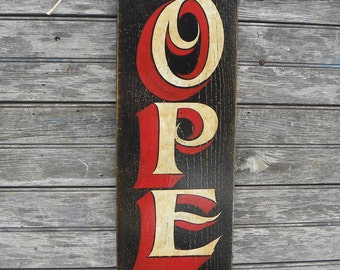 Open  Sign, , original, hand painted  SB -O5