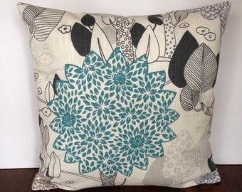 18 x 18 inch flowering tree print pillow cover