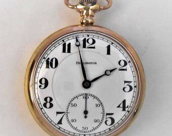 1919 Illinois Private Label, Railroad Grad 107, Size 16s, 21J, Adjusted to Temp and 5 Pos Pocket watch. keeps accurate time