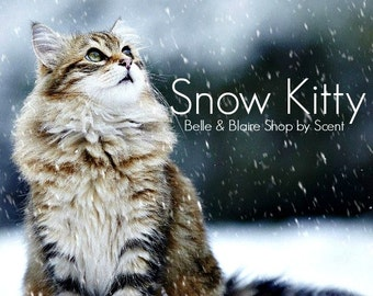Best Seller! Snow Kitty- Peppermint Leaf, huckleberries, Strawberries, Marshmallow, White Lillies- Pick Your Own Products