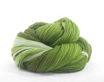Handspun Merino, Green Gradient,  563m / 586yd
