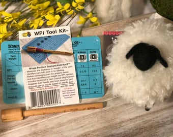 WPI TOOL KIT Wraps Per Inch Tool Kit Nancys Knit Knacks Measure Yarn Thickness or Weight Spinners Knitters
