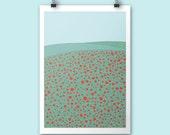 Poppies / A4 print / Art print / poster print / spring wall decor / nursery art print / nursery poster