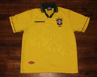 Brazil Soccer Jersey umbro authentic world cup football shirt Large