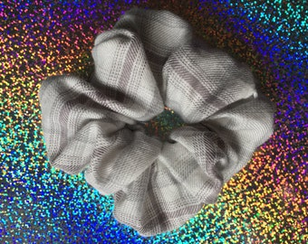 Grey DAYS Plaid Hair Scrunchie