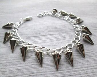 Spikey Bracelet, Spiky Bracelet, Goth Bracelet, Punk Bracelet, Gothic Jewelry, Gothic Jewellery, Goth, Punk jewelry, spiked jewelry, biker