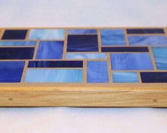 Blue Glass Mosaic Trivet