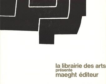Eduardo Chillida-La Librairie des Arts-1972 Lithograph