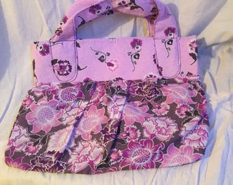 Purple Floral Oversized Handbag