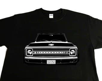 1969 Chevy Truck C10, Pickup, Chevy Truck. K10, C/K T-Shirt, Suburban.