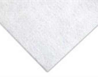 White Acrylic Glitter Felt Fabric - 23 x 30cm