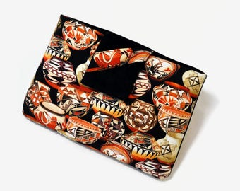 Tablet Case, iPad Mini Cover, Native American, Trading Post Hopi Pottery, Tribal, Ethnic, Kindle Fire 7, 8, Tablet Sleeve,  FOAM Padding