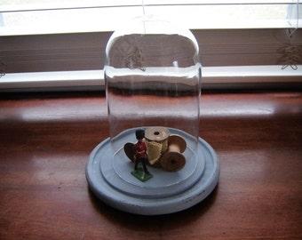 Cloche en verre etsy for Cloche decorative verre