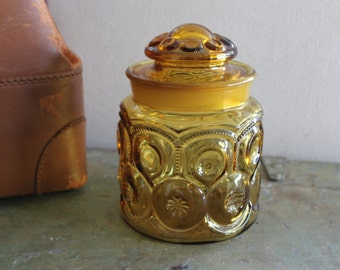 LE Smith Moon and Stars Amber Canister