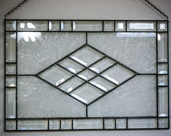 Stained Glass Panel,  Bevels