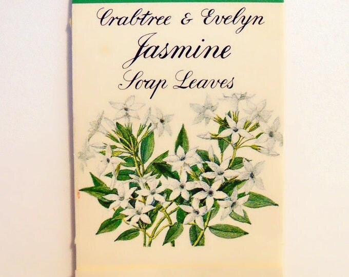 Vintage 1980s Jasmine by Crabtree and Evelyn Scented Soap Leaves in Packet