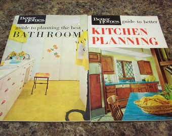 2 BETTER HOMES & GARDENS 1960s Kitchen Bathroom Planning Books Home Design Decorating