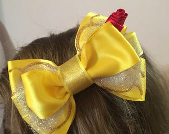 Beauty and the Beast Belle Inspired Hair Bow