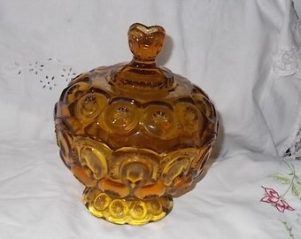 Amber Vintage Covered Candy Dishes, Vintage Dishes,Vintage Kitchen,Not included in Coupon Sale