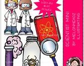 Scientist clip art Mini set