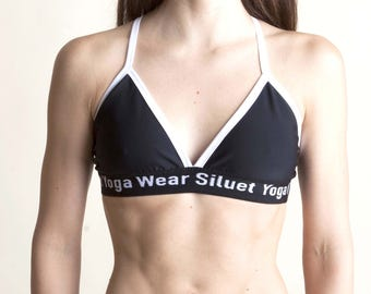 Black&white bra  for Bikram yoga