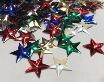 40-60 piece mix of 16 mm star sequins (36)+