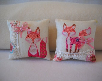 Doll pillows, doll bedding, fox pillow, AG doll pillow, dolls, doll pillow set, couch cushions, mini pillows, doll house furniture