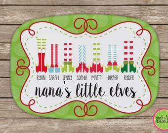 Design Your Own Personalized Melamine Platter, Monogrammed Christmas Platter, Grandparent Gift, Christmas Gift, Mother's Day