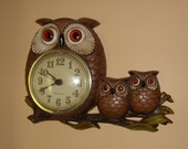 1972  Owl Clock New Haven Burwood Products