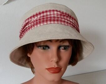 Summer Hat - Garden Hat - Beach Hat -  Cloche Sun Hat