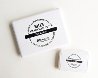 Emboss It Ink Pads by Ranger Ink - Embossing Ink - Big Emboss It - Clear Embossing Ink - Oversized Stamp Pad - Extra Large Ink Pad
