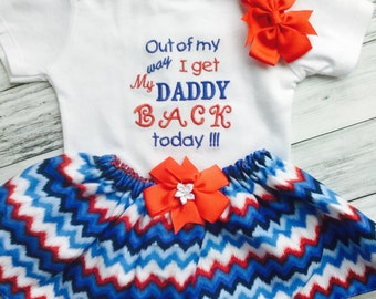Military Homecoming, Baby girls and toddlers,Personalized bodysuit Welcome Home Daddy-Soldier Homecoming-Air Force-Navy, Welcome home Daddy
