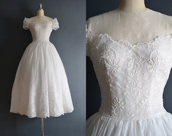 Isabeli / 50s wedding dress / short wedding dress