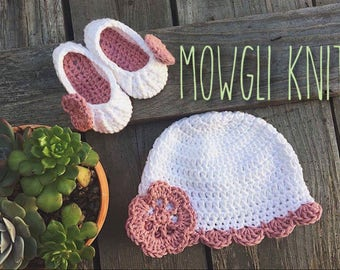 Baby High Heel Shoes and Crochet hat, baby louboutin high heel set, baby shower gift, baby girl, matching set, sun hat