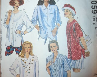 Vintage Easy McCall's Pattern 6059 Misses' Blouse Sizes 14-16-18