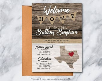 MISSION Homecoming Card Design / LDS Missionary Address Card / Mission Post Card / Announcement Card / #Missionary #LDSMission #Barnwood