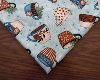 Tea Cups, Mugs Table Runner - Table Topper -Table Linen