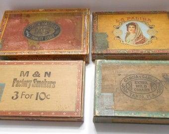 Vintage Garcia Y Garcia, M & N, La Palina, and Dutch Masters Cigar Boxes (BP) (EEE)