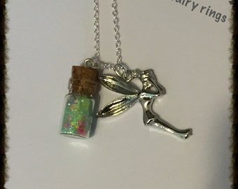 Tinker Bell Bottle Charm Necklace