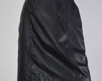 Real Leather 1980's Mini Skirt