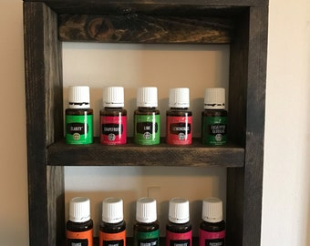 Extra Small Essential Oil Bottle Wall Shelf Young Living doTerra