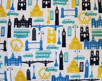 London Fabric by the Yard-Fashion Fabric -Quilt Fabric-Apparel Fabric-Home Decor Fabric-Fat Quarter-Craft Fabric-Fat Quarters